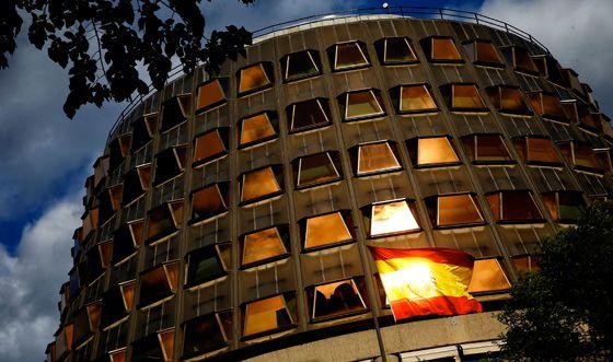 Fachada del edificio del Tribunal Constitucional en Madrid.