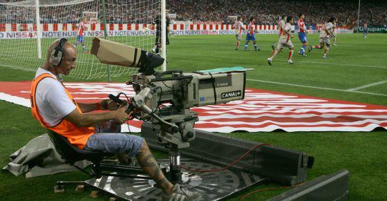 Retransmisión de un partido del el estadio Calderón.