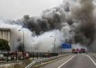 Un incendio arrasa la planta de Campofrío en Burgos