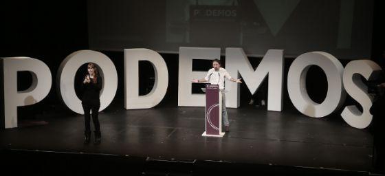 Clausura de la asamblea ciudadana de Podemos, el 15 de noviembre.