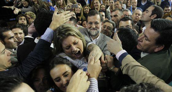 Acto de campaña de Mariano Rajoy en Sevilla, en 2011.