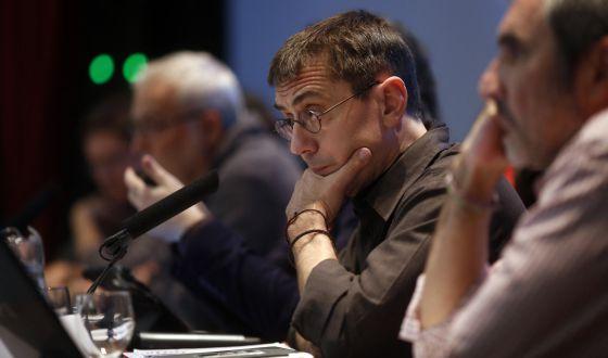 Juan Carlos Monedero, en la Escuela de Estudios Empresariales.