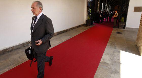 El expresidente de Bankia, Rodrigo Rato, en una entrega de premios en Valencia.