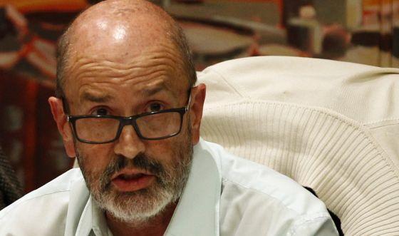 El concejal Raúl Sánchez, en un pleno de Rivas la semana pasada.