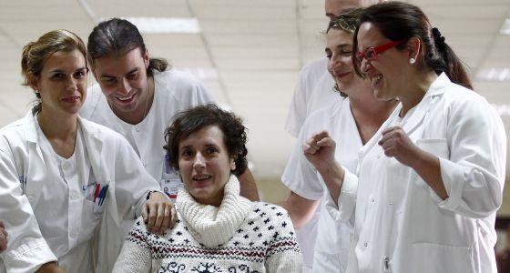 Teresa Romero, tras de recibir el alta el 5 de noviembre.
