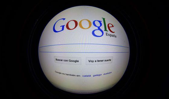 Página principal de Google España.