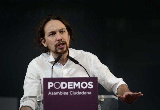 Pablo Iglesias, durante la Asamblea Ciudadana.