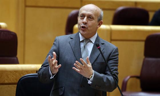 José Ignacio Wert en la sesión de pleno del Senado.