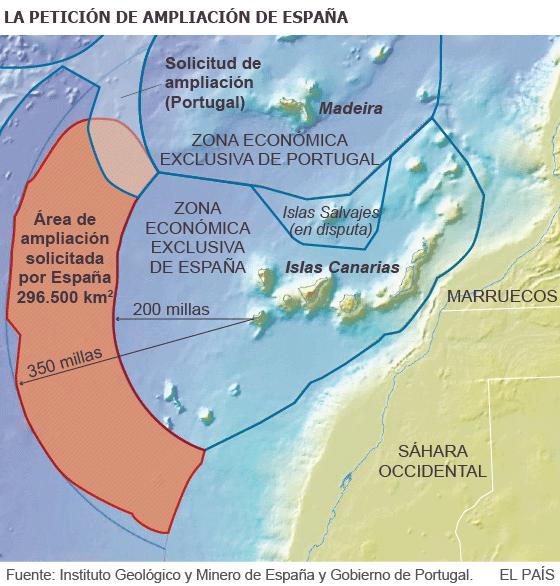 España amplía sus dominios marítimos