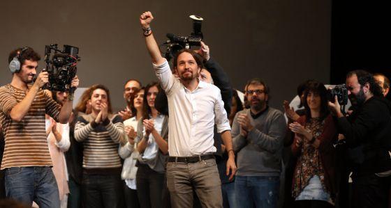 Pablo Iglesias en la Asamblea Ciudadana de noviembre.