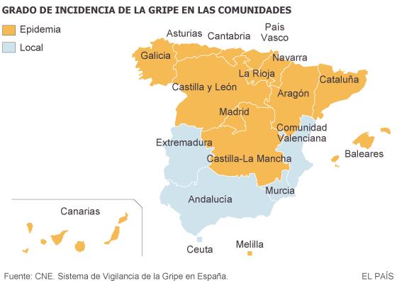 La gripe se convierte en epidemia en casi toda España