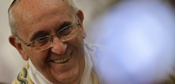 El Papa, durante una misa en la basílica de San Pablo el 25 de enero.