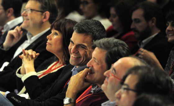 Pedro Sánchez, durante la conferencia autonómica en el palacio de congresos de Valencia.