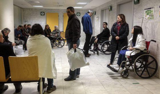 Sala de espera de Urgencias del Complexo Hospitalario Universitario de Ourense el 15 de enero pasado.