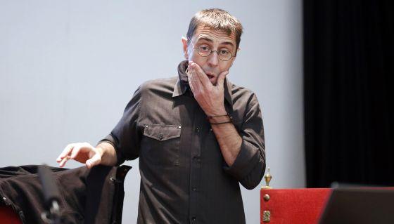 Juan Carlos Monedero, en una charla en la Escuela universitaria de estudios empresariales el pasado enero.
