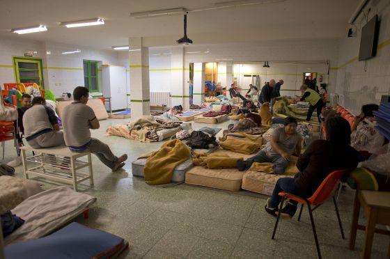 Noche en el colegio de San Gregorio, en Aguilar de Campoo.