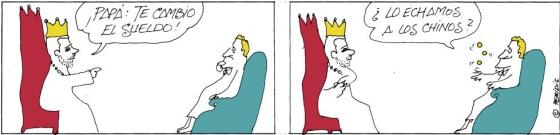 El Rey se baja un 20% el sueldo y fija uno de 187.356 euros para su padre