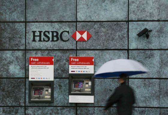 Vista exterior de una oficnia del HSBC en una calle de Londres.
