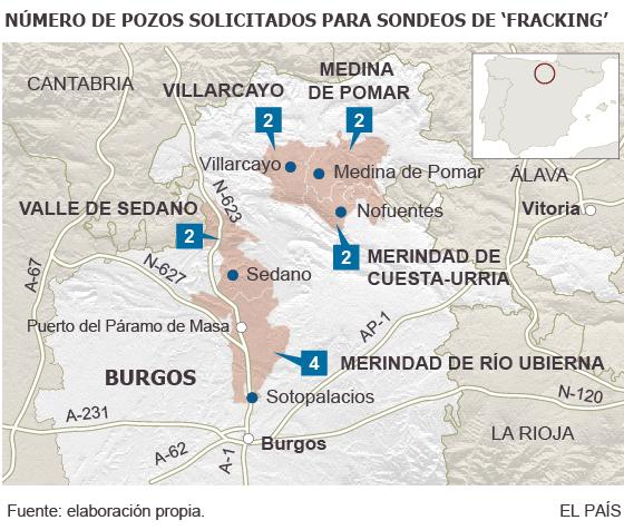 La canadiense BNK pide emplear el 'fracking' en 12 pozos de Burgos