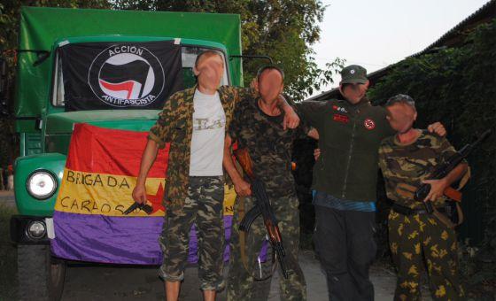 Detenidos ocho españoles por luchar en el bando antifascista en Ucrania