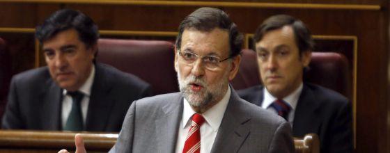 Rajoy, durante una sesión de control al Ejecutivo en el Congreso.