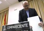 El presidente del Tribunal de Cuentas, Ramón Álvarez de Miranda, el pasado abril, en el Congreso de los Diputados.