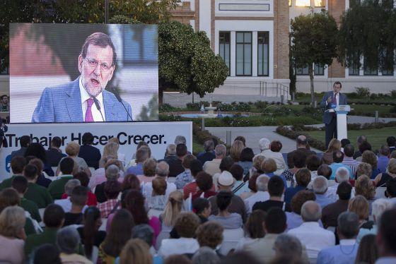 Rajoy, en un acto de campaña en Málaga.