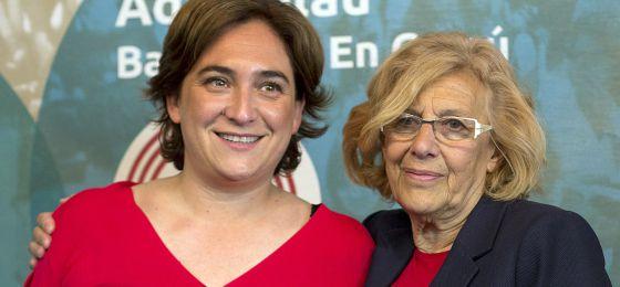Ada Colau y Manuela Carmena