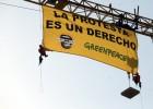 Greenpeace protesta en el Congreso por la 'Ley Mordaza'
