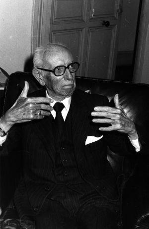 José María Pemán, en 1977.