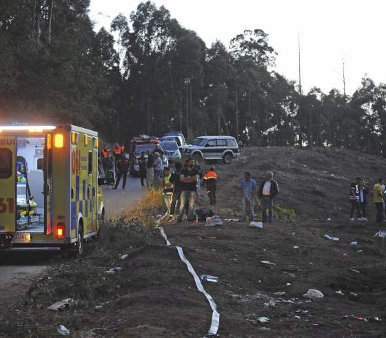 Heridos en el accidente de rally de A Coruña