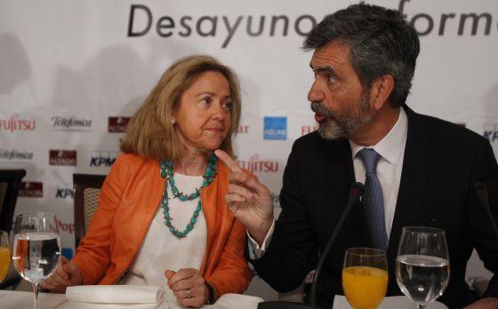 Carlos Lesmes, presidente del Tribunal Supremo y del Consejo General del Estado, y Consuelo Madrigal, fiscal General del Estado.