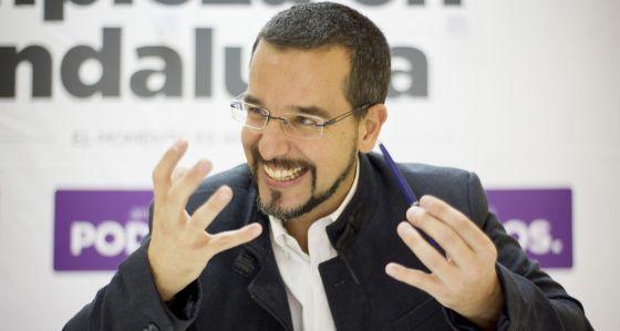 El secretario de Organización de Podemos, Sergio Pascual.