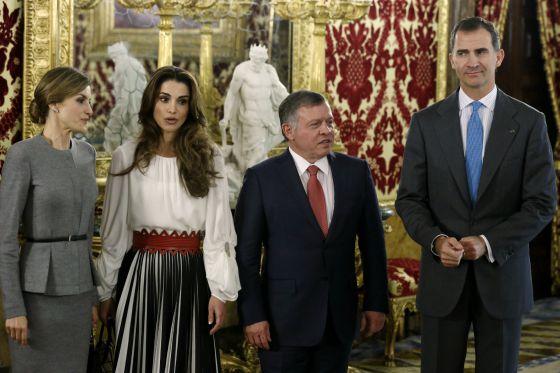 Los Reyes Felipe VI y Letizia junto al rey Abdalá II de Jordania y la reina Rania