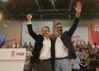 Sánchez reinvidica el legado de Zapatero en su primer mitin juntos