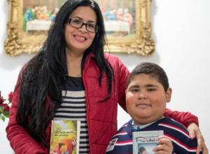 Rubén Dario y su madre, en Sevilla.