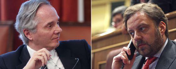 De izquierda a derecha, De la Serna y De Arístegui, imputados por el supuesto cobro de comisiones por hacer trabajos de intermediación para empresas españolas.