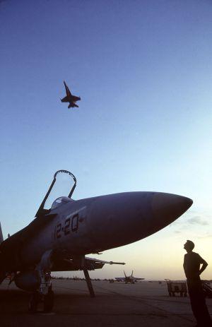 Cazas F-18 del Ejército del Aire