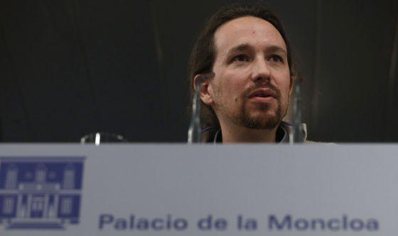 Iglesias, tras reunirse este lunes en La Moncloa con Rajoy.