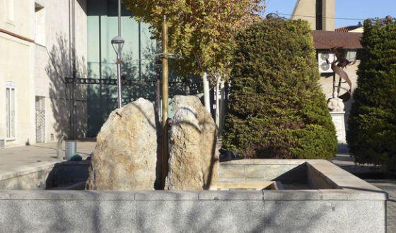 Fuente de delante del teatro de Manzanares