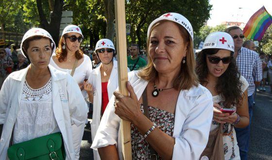 Protesta contra la privatización y los recortes en sanidad