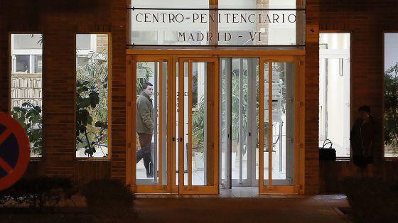 David Marjaliza a la salidad de la cárcel de Aranjuez (Madrid).