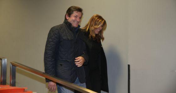 Javier Fernández y Susana Díaz, el domingo en Madrid.