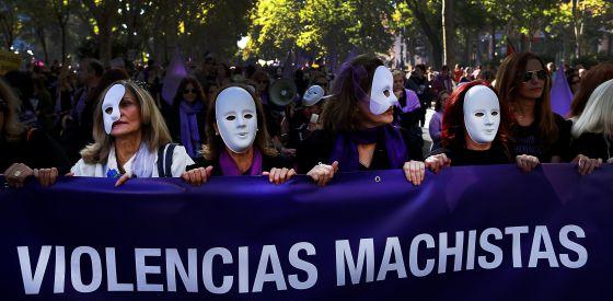Manifestación en Madrid contra la violencia machista en noviembre.