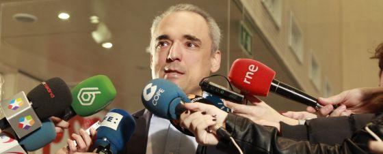 El diputado del PSOE y expresidente de la gestora del Partido Socialista de Madrid, Rafael Simancas, este domingo.
