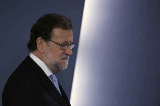 Mariano Rajoy, en la comparecencia de la pasada semana.