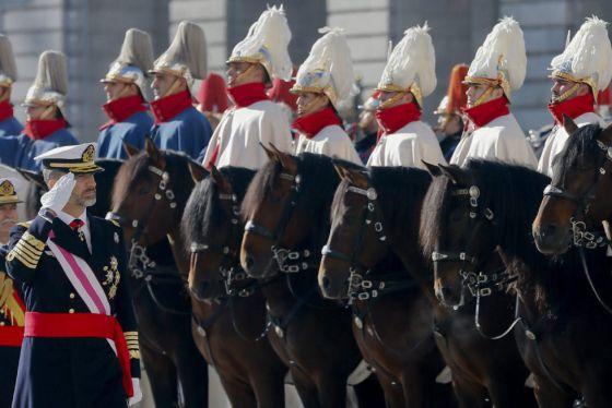 Felipe VI en enero de 2015, durante su su primera celebración de la Pascua Militar como monarca.
