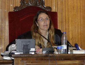 La juez Rocío Martín en una imagen de archivo en la Audiencia de Palma de septiembre de 2014.