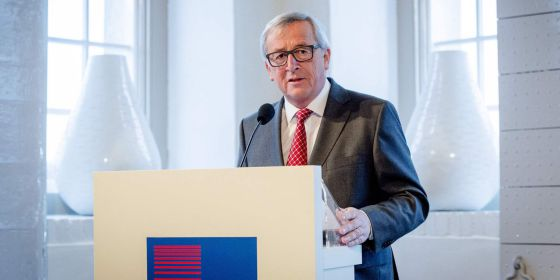 Jean-Claude Juncker speaking on Thursday in Amsterdam.