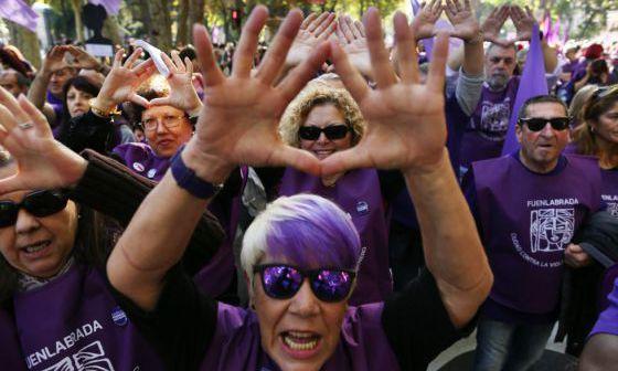 Manifestación contra la violencia machista el pasado de noviembre en Madrid.rn